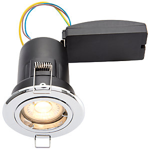 Wickes LED Premium Fire Rated Downlight Chrome Finish