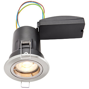 Wickes LED Premium Fire Rated Downlight Brushed Chrome Finish