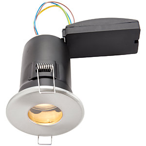 Wickes LED Fire Rated & IP65 Bathroom Downlight Brushed Chrome Finish