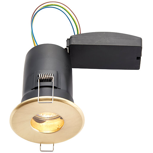 wickes led fire rated ip65 bathroom downlight brass. Black Bedroom Furniture Sets. Home Design Ideas