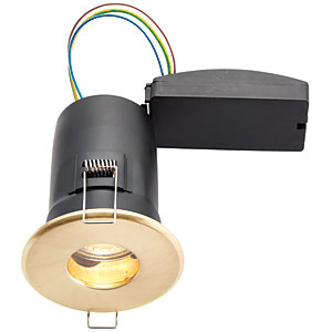 Wickes LED Fire Rated & IP65 Bathroom Downlight Brass