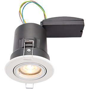 Wickes LED Premium Fire Rated Tilt Downlight White