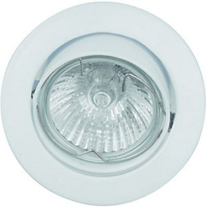 Wickes Halogen Round Tilt Downlight White 3 Pack