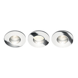 Wickes Energy Efficient Bathroom Downlight Chrome 3 Pack