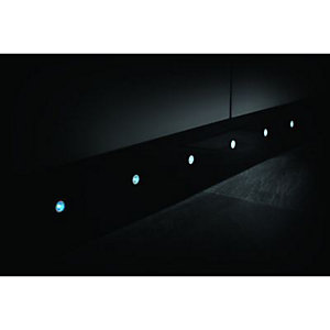 Wickes Accent Blue LED Plinth Light Kit Polished Stainless Steel Pack of 10