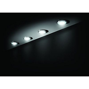 Wickes Ella White LED Under Cabitnet Light Kit Chrome 4 Pack