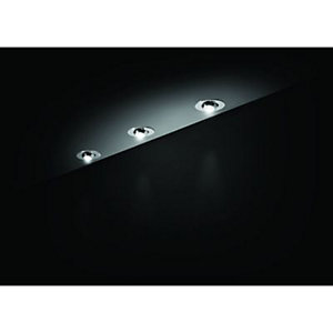 Wickes Vetus LED Cabinet Display Kit Chrome 3 Pack