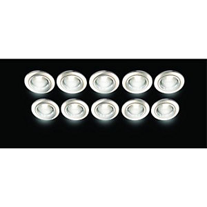 Wickes Fire Rated Fixed Downlight Brushed Chrome 10 Pack