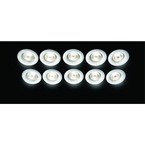 Wickes Fixed Downlight White 10 Pack