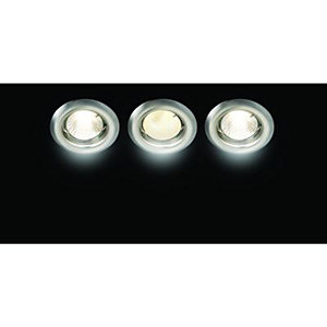 Wickes Energy Efficient Downlight Brushed Chrome 3 Pack
