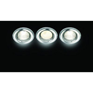 Wickes Energy Efficient Downlight Chrome 4 Pack