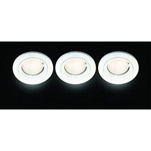 Wickes Fire Rated Energy Efficient Downlight White 3 Pack