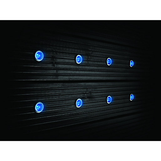 Outside Lights Wickes: Wickes Blue LED Deck Lights 30mm 8 Pack