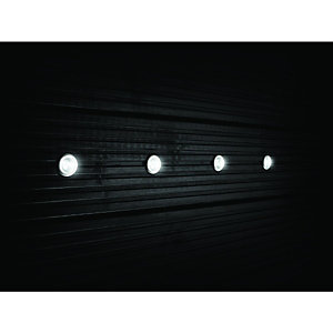 Wickes White LED Deck Lights Extension Kit