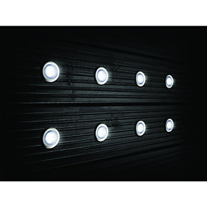 Wickes LED Deck Lights 45mm White