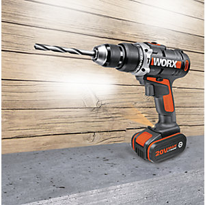 WORX 20V LITHIUM-ION COMBI HAMMER DRILL WITH 2 X 4.0 BATTERIES & SECURITY SET | eBay