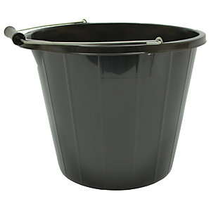 4Trade Builders Bucket Black 14L