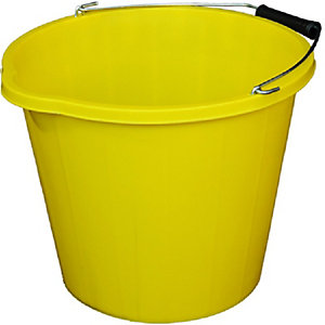 4Trade Builders Bucket Yellow 14L