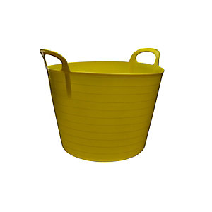 4Trade Builders Tub Yellow 40L