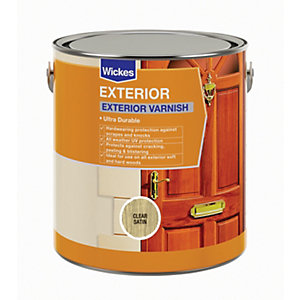 Wickes Exterior Varnish Clear Satin 750ml