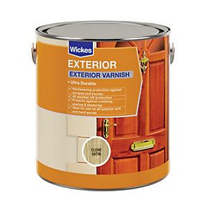 Wickes Exterior Varnish Clear Satin 2.5L