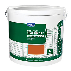 Wickes Shed & Fence Timbercare Chestnut Brwn 5L