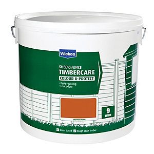 Wickes Shed & Fence Timbercare Chestnut Brown 9L