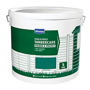 Wickes Shed & Fence Timberare Sherwood Green 9L