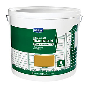Wickes Shed & Fence Timbercare Light Brown 9L
