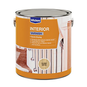 Wickes Quick Drying Interior Varnish Clear Satin 2.5L