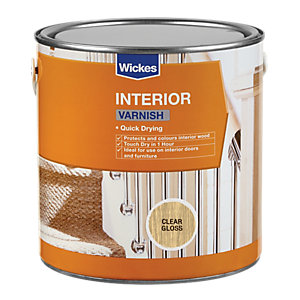 Wickes Quick Drying Interior Varnish Clear Gloss 2.5L
