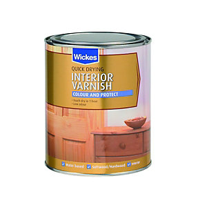 Wickes Quick Drying Interior Varnish Red Mahogany Satin 750ml
