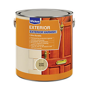 Wickes Exterior Varnish Clear Gloss 750ml