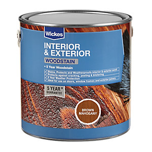 Wickes Professional Woodstain Brown Mahogany 750ml