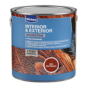 Wickes Professional Woodstain Red Mahogany 750ml