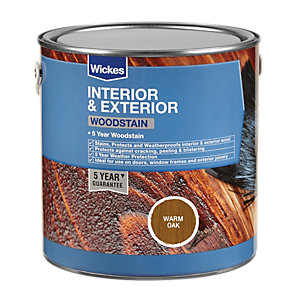 Wickes Professional Woodstain Warm Oak 750ml