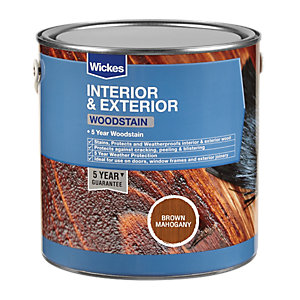 Wickes Professional Woodstain Brown Mahogany 2.5L