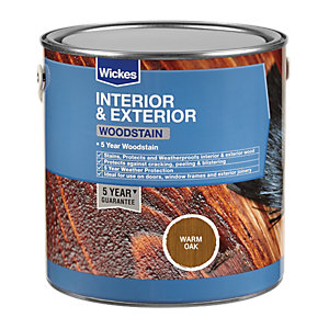 Wickes Professional Woodstain Warm Oak 2.5L