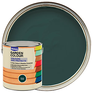 Wickes Garden Colour External Wood Paint Spruce Green 2.5L