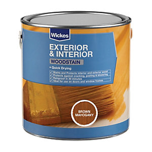 Wickes Woodstain Brown Mahogany 750ml