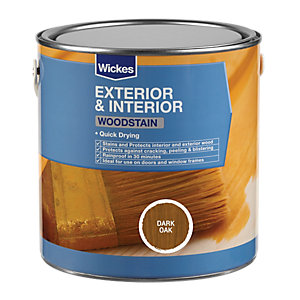Wickes Woodstain Dark Oak 750ml