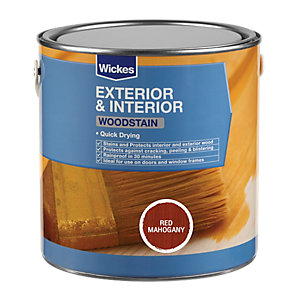 Wickes Woodstain Red Mahogany 750ml