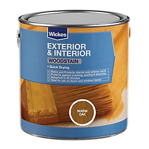 Wickes Woodstain Warm Oak 750ml