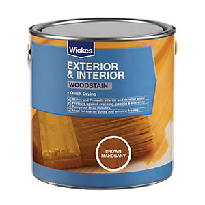 Wickes Woodstain Brown Mahogany 2.5L
