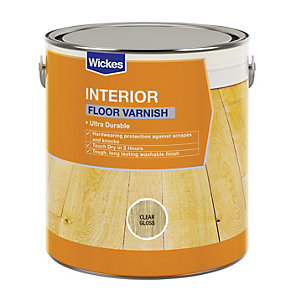 Wickes Floor Varnish Clear Gloss 2.5L