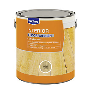 Wickes Floor Varnish Clear Satin 2.5L