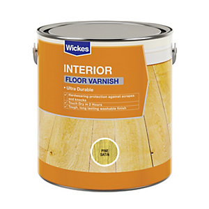 Wickes Floor Varnish Pine Satin 2.5L
