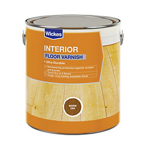 Wickes Floor Varnish Warm Oak Satin 2.5L