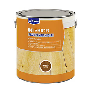 Wickes Floor Varnish Dark Oak Satin 2.5L