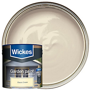 Wickes Garden Colour External Wood Paint Classic Cream 2.5L